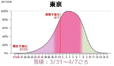【写真を見る】20日の発表では、東京の見頃は3月31日(金)から4月7日(金)、満開になるのは4月1日(土)だったが…続報を待とう