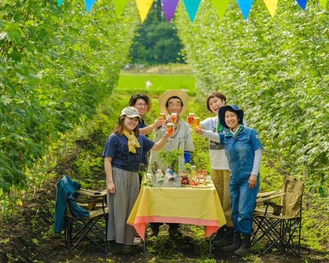 ホップ畑とおうちをつないで乾杯!オンラインイベント「あきたホップ&ビアツーリズム」開催