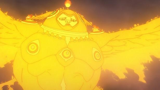 「青の祓魔師 京都不浄王篇」第11話場面カットが到着。結界が崩壊、そして烏枢沙摩が現る