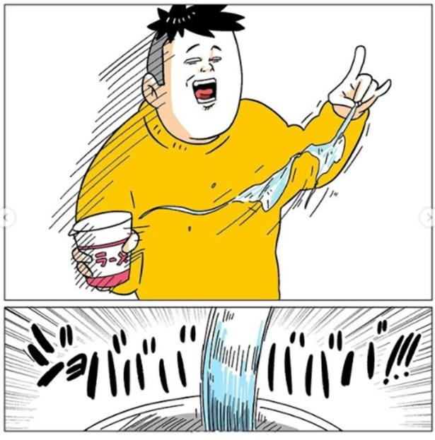 カップラーメンにお湯を注いだのに…(4/7)