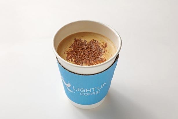 エスプレッソにミルクとチョコレートを加えた、「マロッキーノ」(550円)/LIGHT UP COFFEE KYOTO