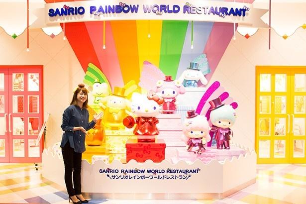 16年12月よりグランドオープンした「サンリオレインボーワールドレストラン」