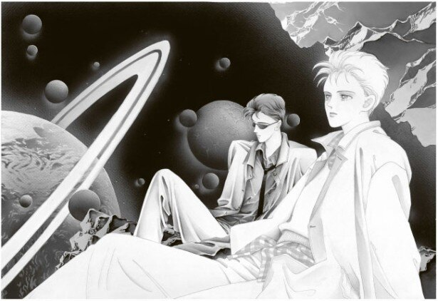 テーマ「Fantasy」で展示されるのは、壮大なスケールのスペース・ファンタジーや異世界での冒険作品