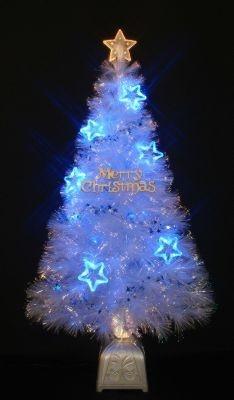 「120cm クリスタルファイバーツリー LED スターブルー」(¥9999)