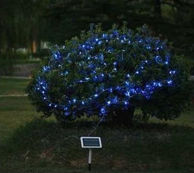 「100球ソーラーLED ストレートライト ブルー」(¥3999)