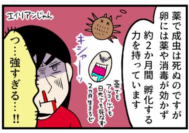 猫のすずらんシリーズ「寄生虫の卵が強すぎるエイリアンか?」3。続きを読むときは画像をクリック!