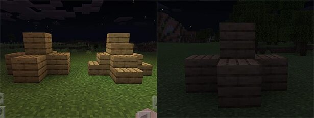 光源ブロックと透過ブロックの特徴
