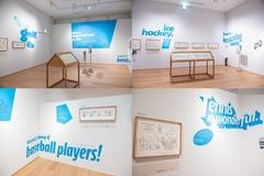 展示は、テニスやゴルフ、野球、アイスホッケーやバスケットボール、サーフィンなど、8つのグループに分かれている