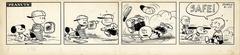 スヌーピーは野球を楽しむ様子を見ているだけかと思いきや…!? 冷静なジャッジ!「審判は見ていた。」(1954年6月22日)