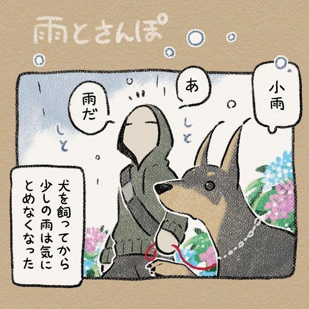 【漫画】「雨とさんぽ」を読む