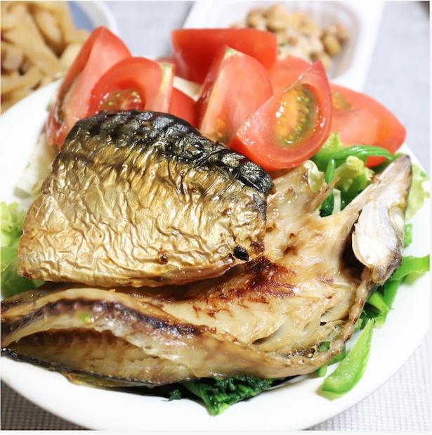 焼き魚が2種類も!焼き加減も絶妙でおいしそう