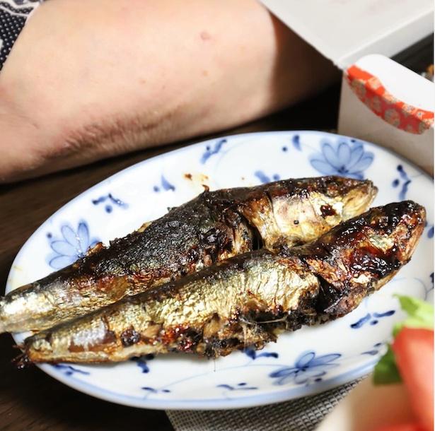 豪華なお弁当に、焼き魚とサラダも!大迫さんは、「僕のことを高校生だと思っているような大ボリュームでした」と話す