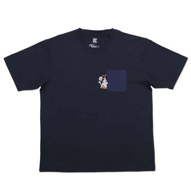 「Tシャツ(ピングーポケット)ネイビー」(2200円)