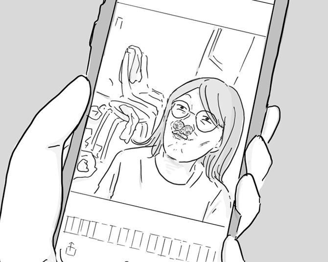 【漫画】鼻にどんぐりを詰めた写真をママ友に見られて…濃いキャラ集結の「三本家」