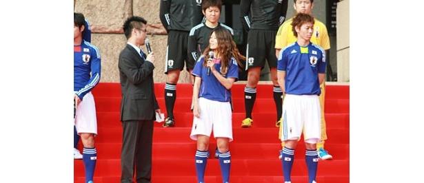 なでしこジャパンとフットサル日本代表の新ユニホームも同時に発表された