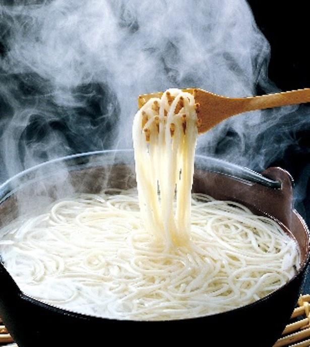 五島うどん みんなでおいしいね。五島うどん540円 (2人分・あごだしスープ付き)/販売元:太田製麺所