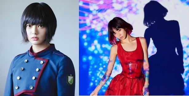 欅坂46の平手友梨奈(左)とLiSA(右)が