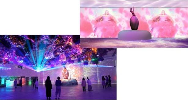 HANA・BIYORIでは、花とデジタルのアートショーを開催中