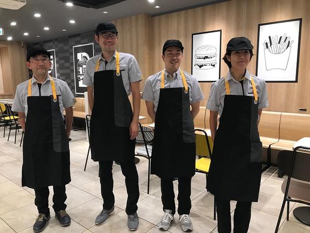 1番左が北川さん。取材時にはユニフォームも着させてもらえたそうだ