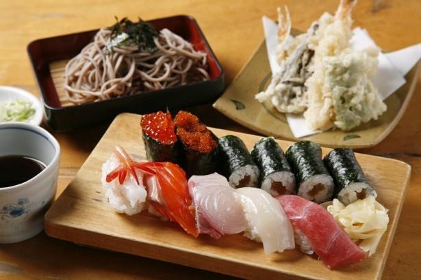 寿司処みどりや/天そば寿司セット(竹)