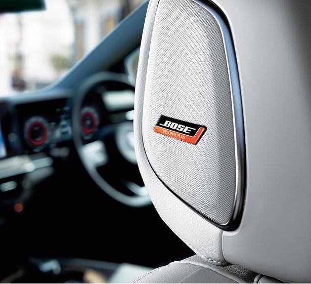 国内初採用の「BOSEパーソナルプラスサウンドシステム」を、シートのヘッドレストに搭載