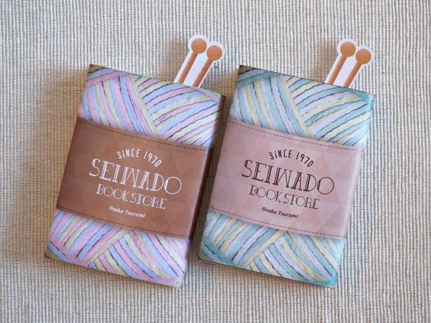 栞が編み針、カバーが毛糸とそれぞれでも、セットにしてもかわいい