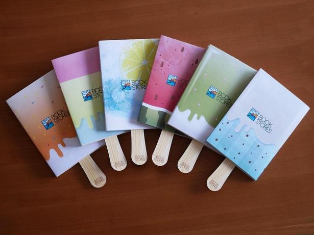 全国260の協力書店で配布をしているブックカバー。正和堂書店のオリジナルブックカバーの中でも一番人気のアイスバーのデザインを、CF用にリデザインしている