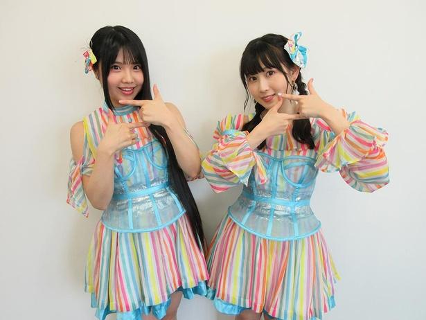 SKE48の北川愛乃(左)・井上瑠夏(右)