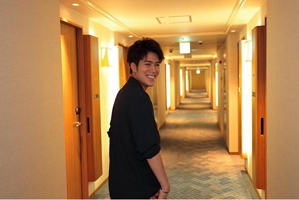 「こっちだよ。早く行こうぜ」と平松さん。エスコートされた~い!