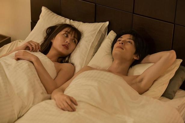 「来世ではちゃんとします2」第5話、大森桃江(内田理央)とセフレAくん(塩野瑛久)