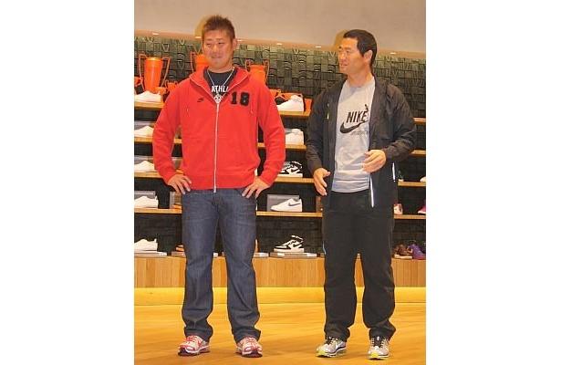 オープニング始球式に登場した松坂選手と桑田さん
