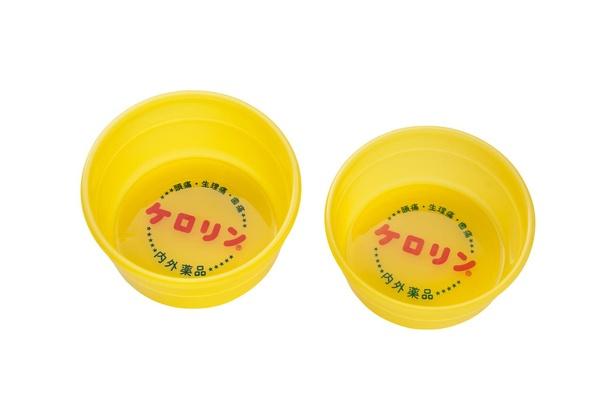 「ケロリン桶」(1430円)。左が関東、右が関西のもの。関西のほうが関東よりもひと回りほど小さい
