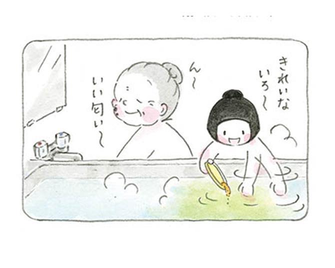 【漫画】「なにあじがいーい?」お風呂上がり、二人には夏ならではの楽しみがあって…/梅さんと小梅さん おばあちゃんとの春夏秋冬
