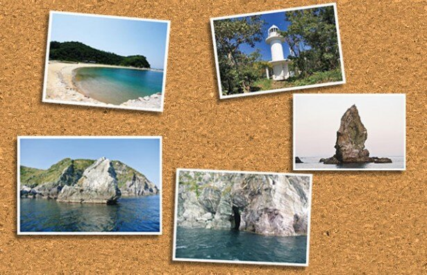 島の玄関口「沼島港」をスタート。沼島海水浴場、下立神岩、穴口、上立神岩、灯台などを巡る/沼島おのころクルーズ