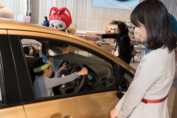 会場には日産の新型車がズラり。試乗体験が楽しめる