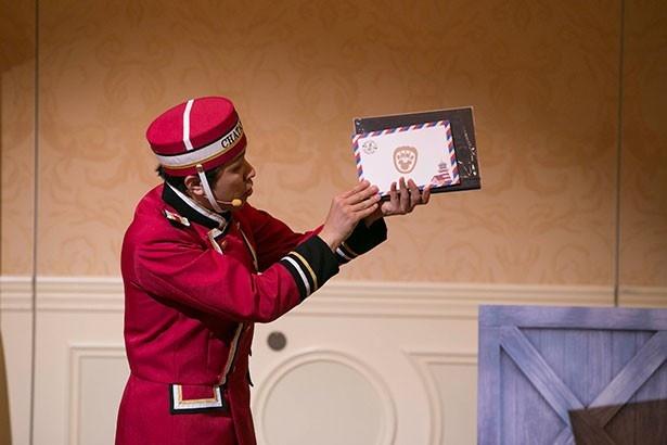「ダッフィー&フレンズ・ハッピーファンイベント」でゲストの案内役を務める、S.S.コロンビア号のポーター・マック