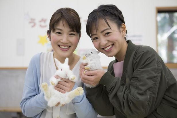 Daiichi-TVのアナウンサー・杉岡沙絵子(左)、山田桃子(右)