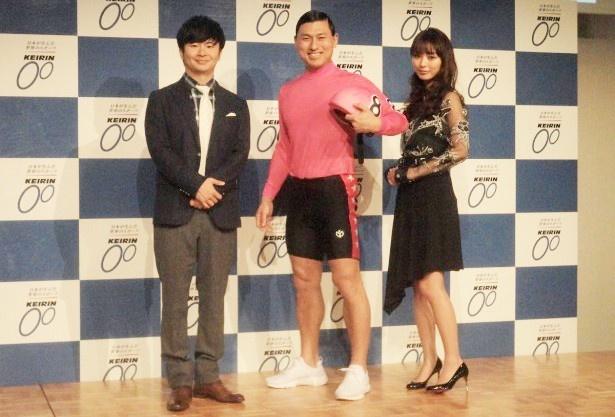 2017年度KEIRIN新CM出演のオードリーと内田理央