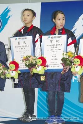 国体はフリーでミスが重なり、悔しい出来栄えに終わったが、兵庫県としては坂本花織とのコンビで優勝することができた