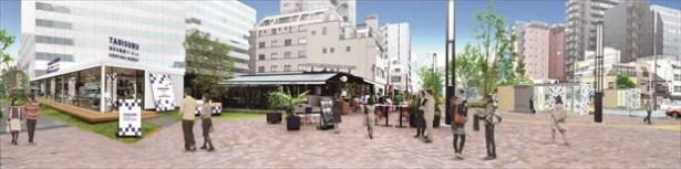 【写真を見る】旅する新虎マーケットは「旅するスタンド」「旅するストア」「旅するカフェ」で構成される