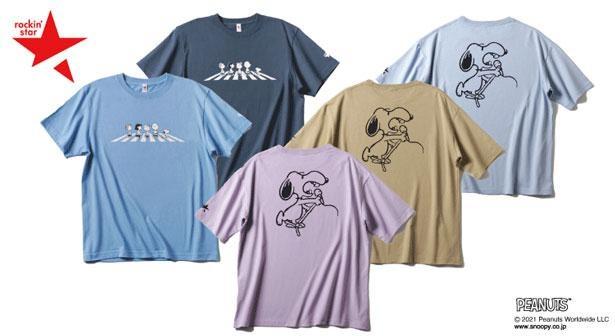 大人気のスヌーピー×rockin'starコラボTシャツ