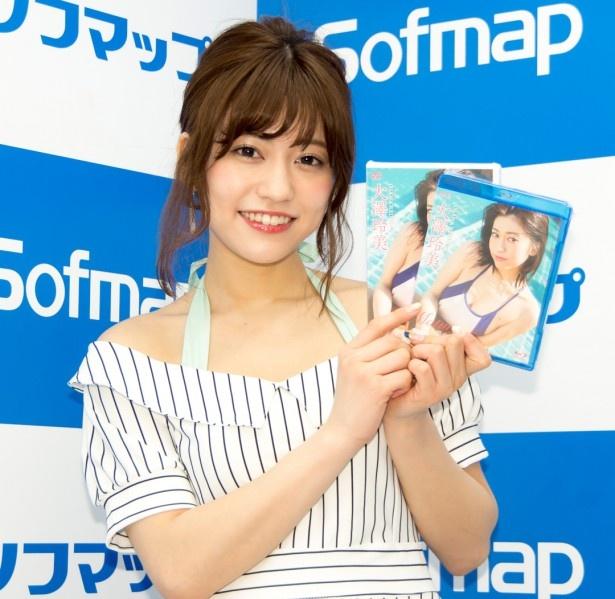 DVD「Mature~楽園の恋」発売イベントに登場した大澤玲美
