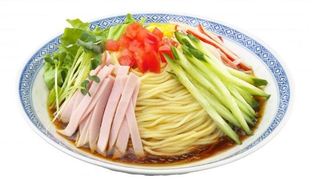 「流水麺」冷やし中華 醤油味はすっきりとした爽やかな味