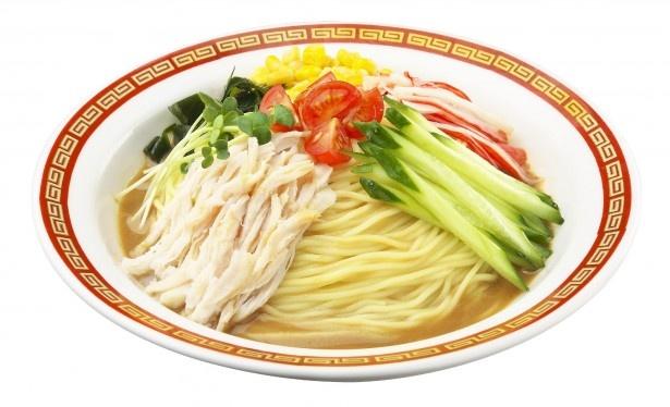 「流水麺」冷やし中華 ごまだれ味は、焙煎したごまの香りに食欲が刺激されます