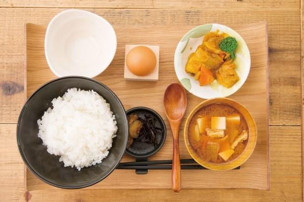 卵かけご飯定食(500円)