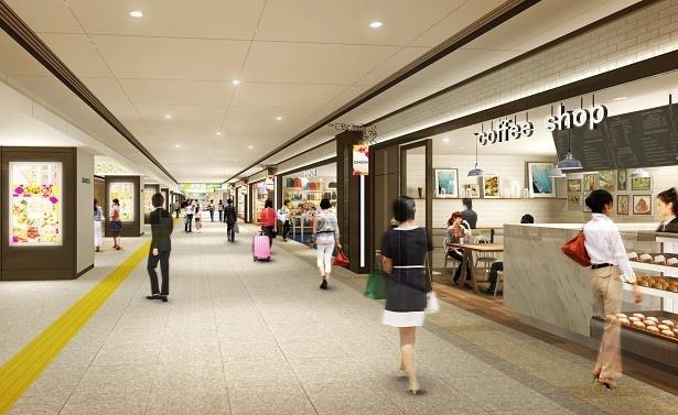 【写真を見る】東京駅を利用する人のデイリーニーズに応えるため、幅広い業種の店舗を展開