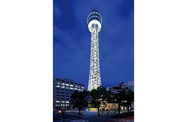 横浜マリンタワーの「マリンタワーイルミ2009」。ピカピカの新名所がさらに光り輝く