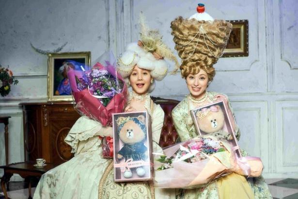 「ショコラ姉妹」という姉妹に扮(ふん)したトリンドル玲奈と栗山千明(写真左から)