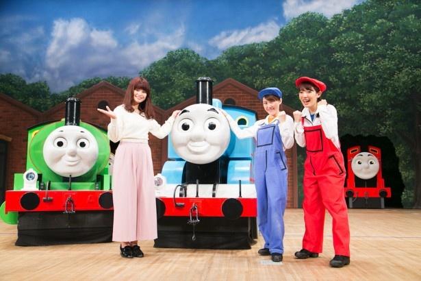 ゲネプロ終了後は、ケン役の松田実里さん(左)とキャサリンを演じた松見裕子さん(右)にインタビュー!