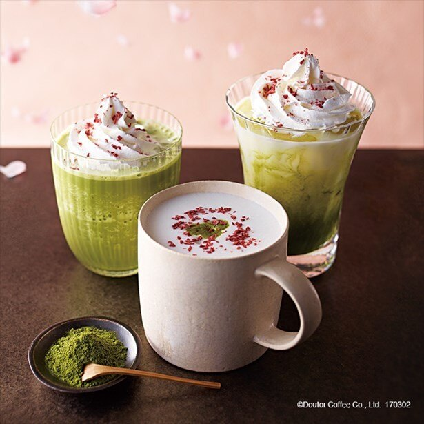 【写真を見る】国産さくらのホワイトショコラ抹茶ラテも同時に発売中だ